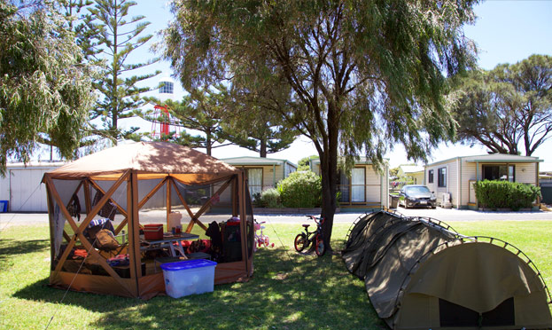 accommodation kingston caravan park unpowered sites